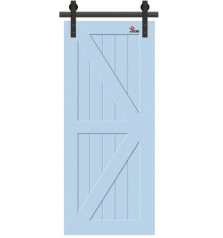 High quality painted interior barn door
