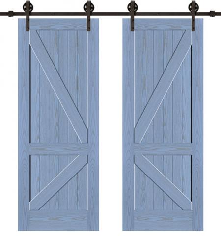 Slab Wooden Sliding Door